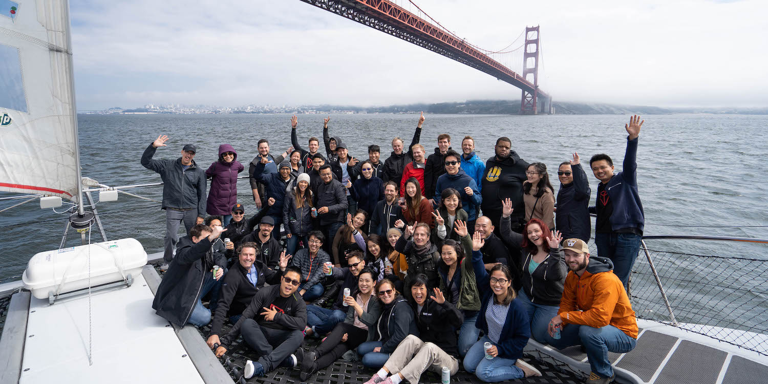 BitTorrent team building on the bay